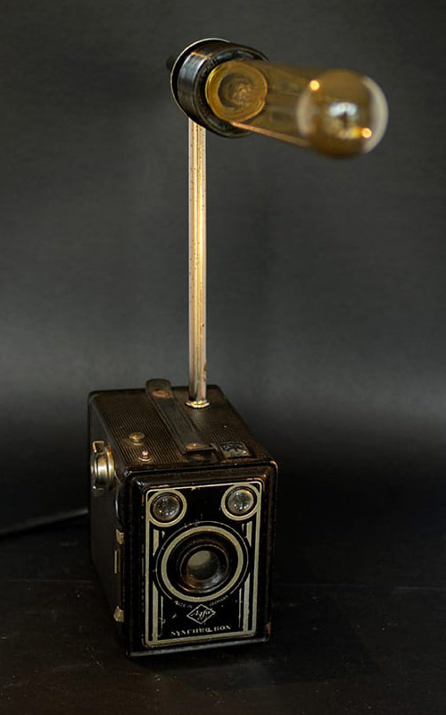 ReLuminate vintage camera turned into a light