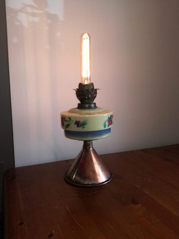 Repurposed paraffin lamp