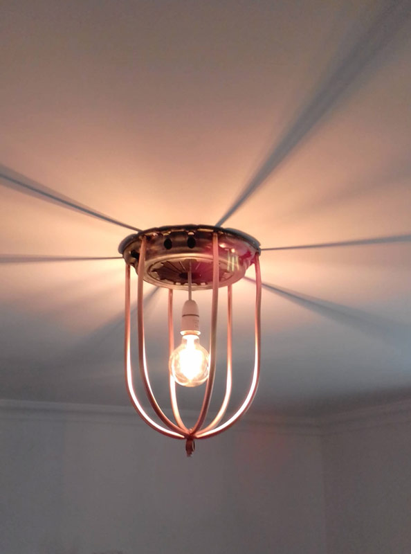 Copper and clutch car part ceiling light