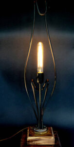 Copper water element repurposed as a light